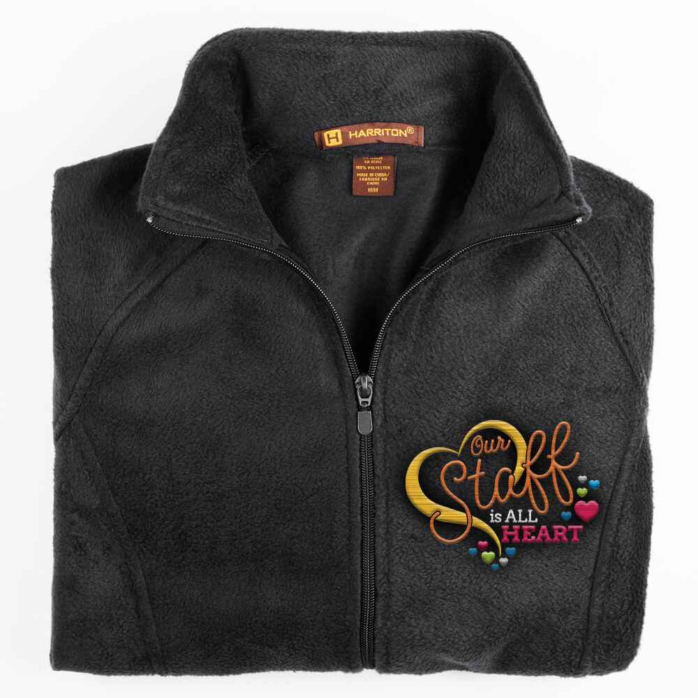 Our Staff Is All Heart Harriton® Fleece Full-Zip Women's Jacket - Personalization Available