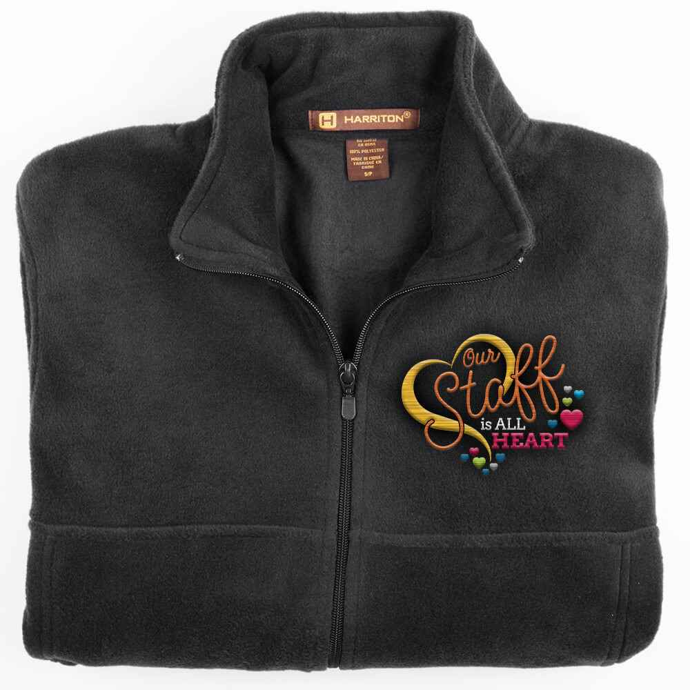 Our Staff Is All Heart Harriton® Fleece Full-Zip Men's Jacket - Personalization Available