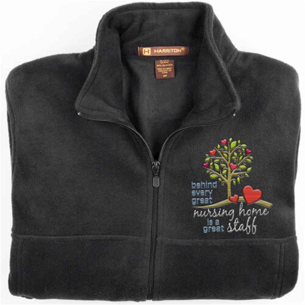 Behind Every Great Nursing Home Is A Great Staff Harriton®  Fleece Full-Zip Men's Jacket - Personalization Available
