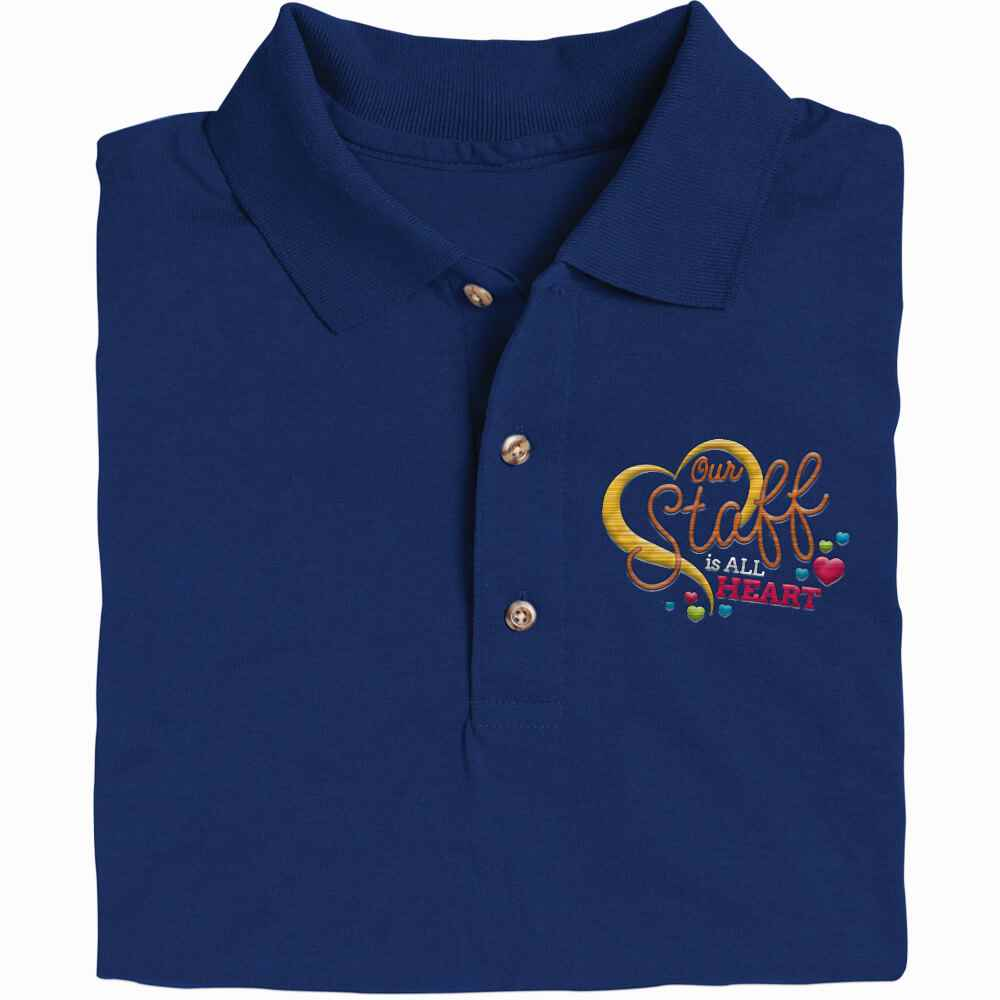 Our Staff Is All Heart Gildan® DryBlend Jersey Polo - Personalization Available