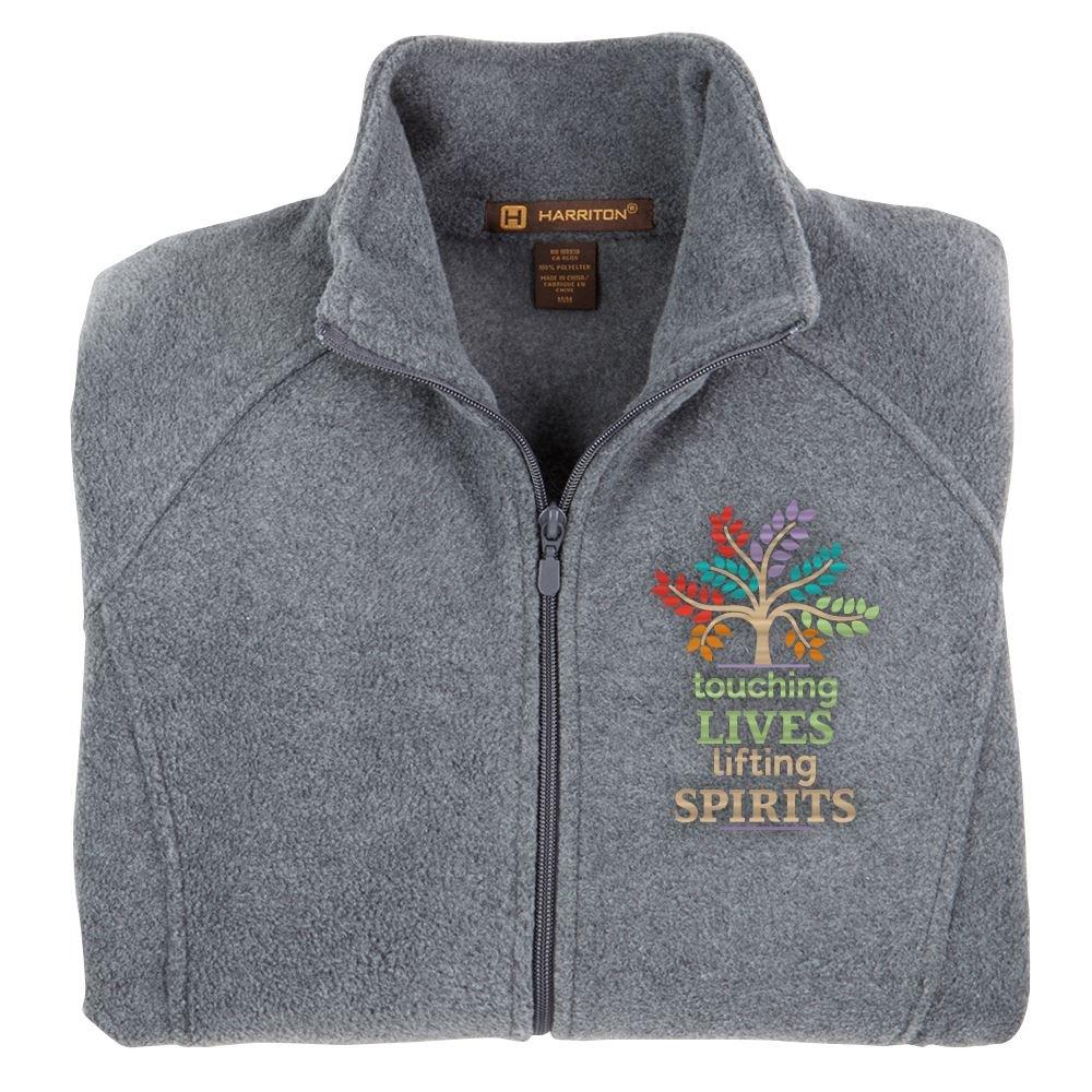 Touching Lives, Lifting Spirits Harriton® Fleece Full-Zip Women's Jacket - Personalization Optional