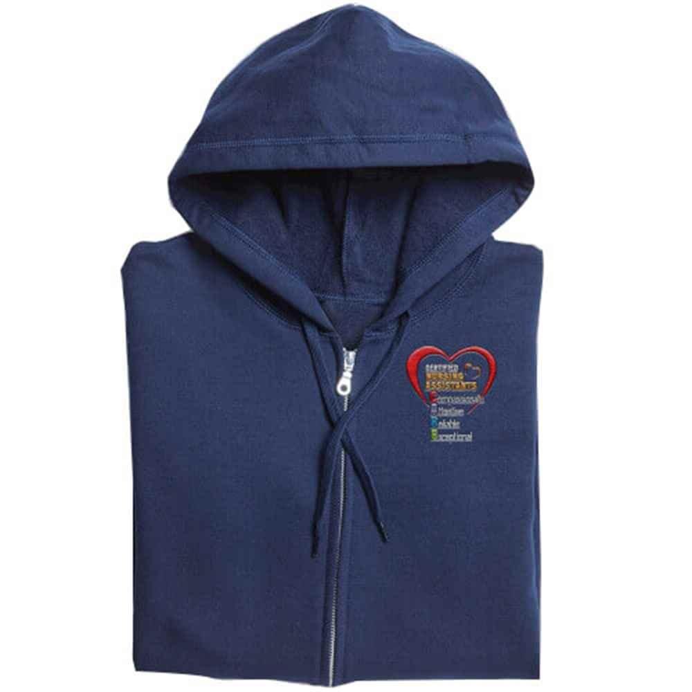 Certified Nursing Assistants: CARE Acronym Gildan® Full-Zip Men's Hooded Sweatshirt - Personalization Available