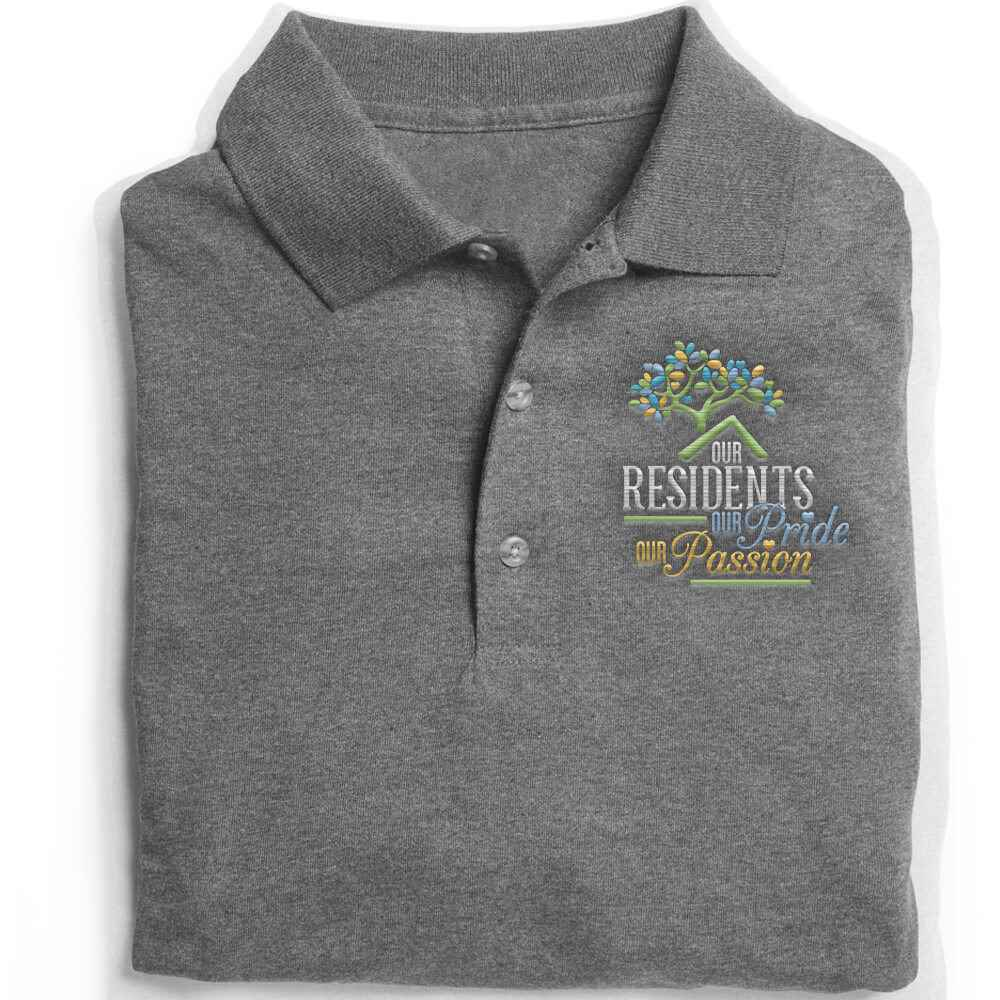 Our Residents: Our Pride, Our Passion Gildan® DryBlend Jersey Polo - Personalization Available