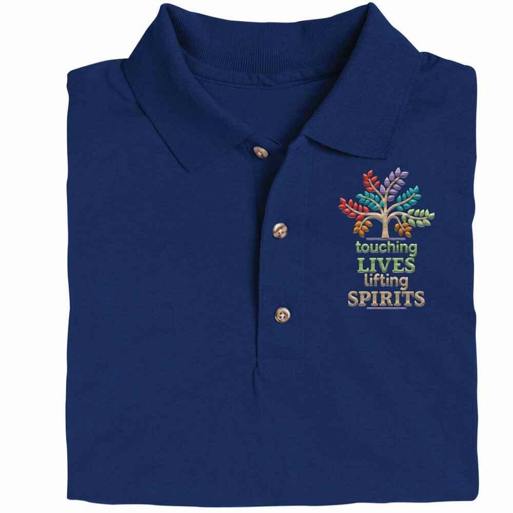 Touching Lives, Lifting Spirits Gildan® DryBlend Jersey Polo Shirt - Personalization Available