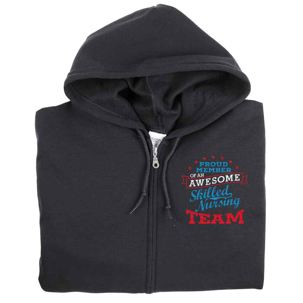 Proud Member Of An Awesome Skilled Nursing Team Gildan® Heavy Blend® Full-Zip Hooded Sweartshirt - Personalization Available