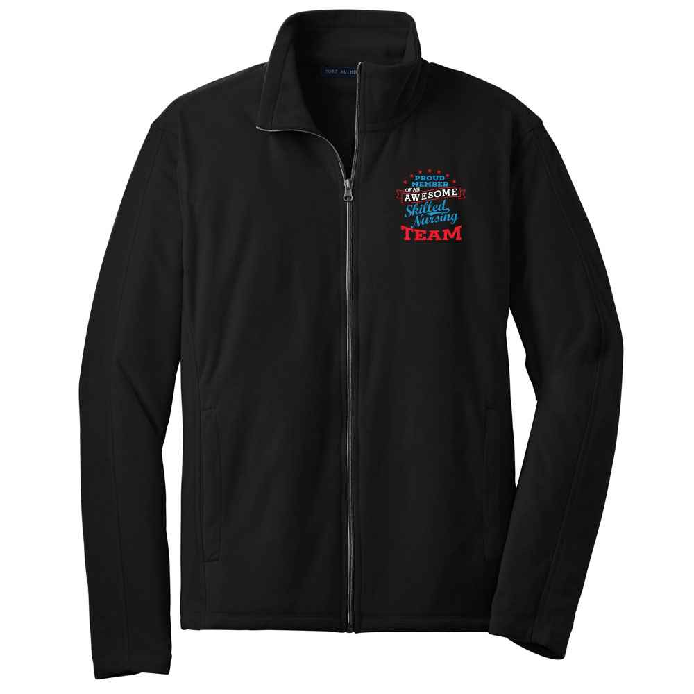 Proud Member Of An Awesome Skilled Nursing Team Port Authority® Full-Zip Microfleece Jacket - Personalization Available