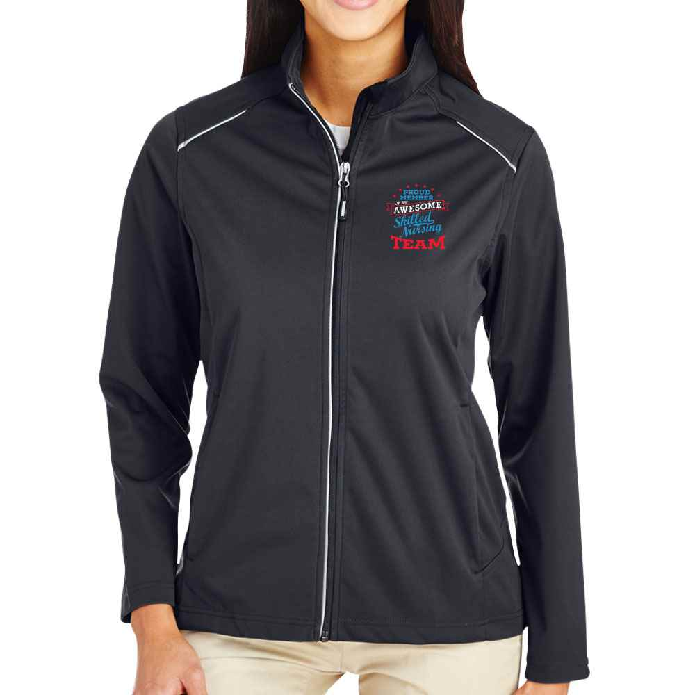 Proud Member Of An Awesome Skilled Nuring Team Core 365 Three-Layer Knit Full-Zip Jacket- Personalization Optional
