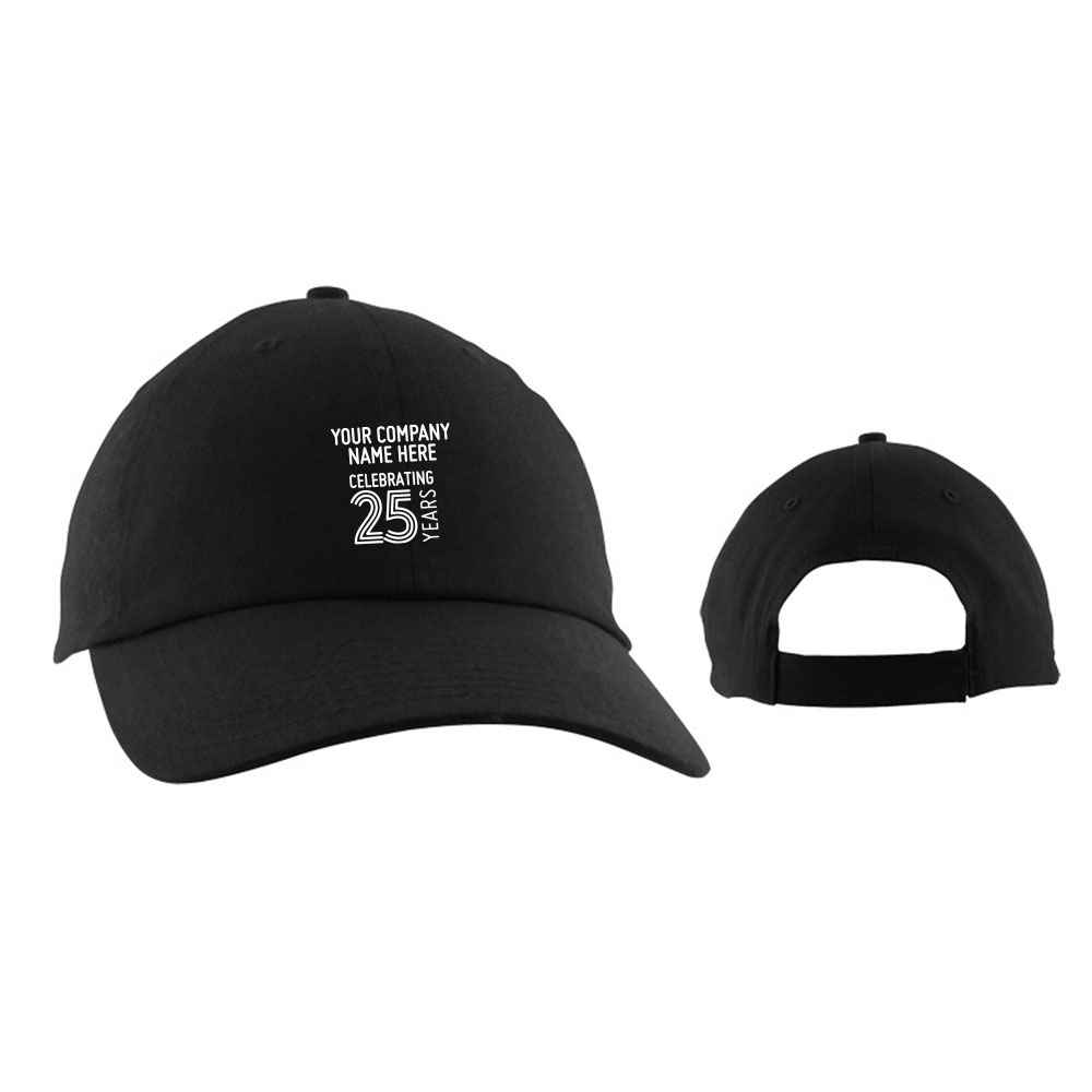 25th Anniversary Budget Unstructured Baseball Cap - Personalization Available