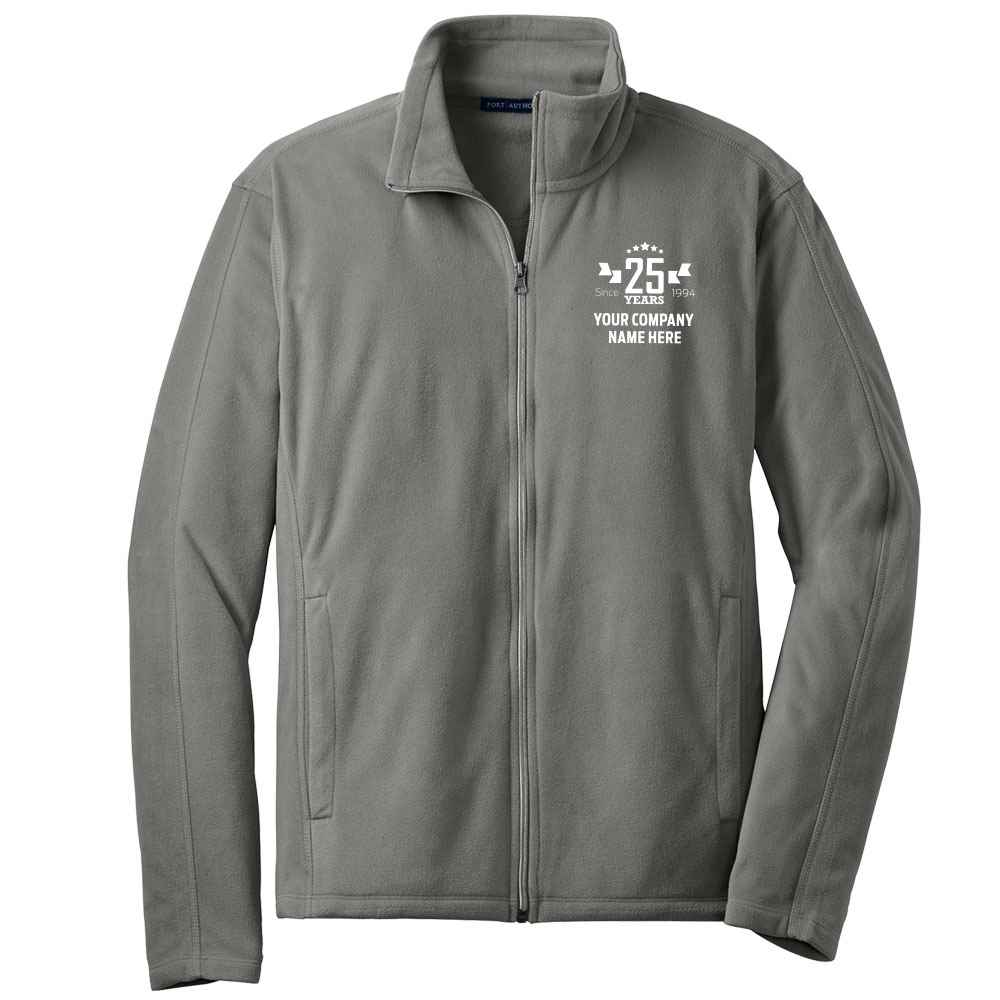 25th Anniversary Port Authority® Men's Full-Zip Microfleece Jacket - Personalization Available