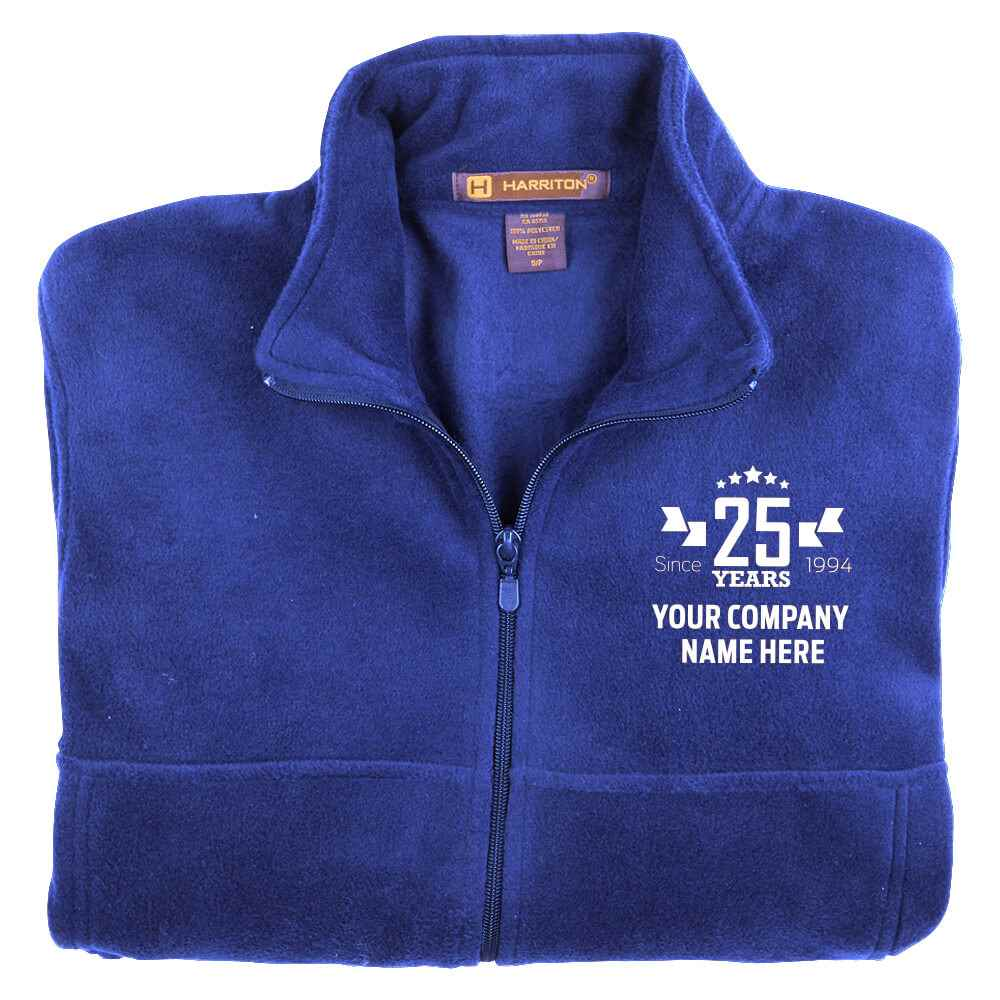25th Anniversary Harriton® Men's Full-Zip Fleece Jacket - Personalization Available
