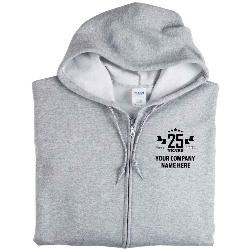 25th Anniversary Gildan® Heavy Blend™ Men's Full-Zip Hooded Sweatshirt - Personalization Available