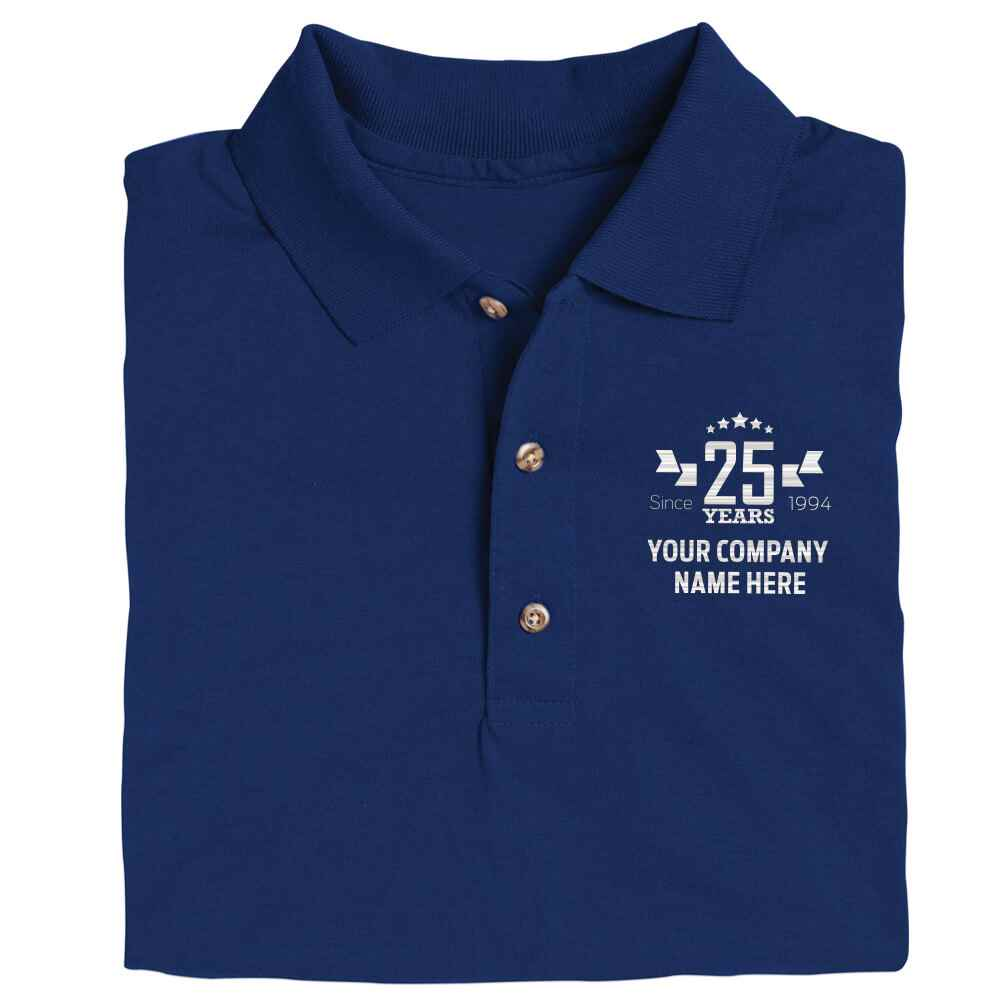 25th Anniversary Gildan® Dryblend 6-Oz. 50/50 Jersey Polo Shirt - Personalization Available