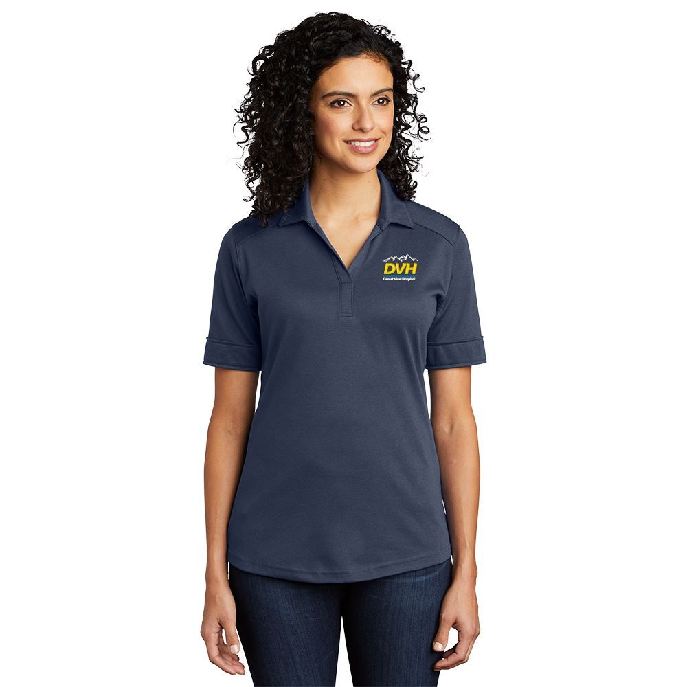 Port Authority® Women's Silk Touch™ Interlock Performance Polo - Personalization Available