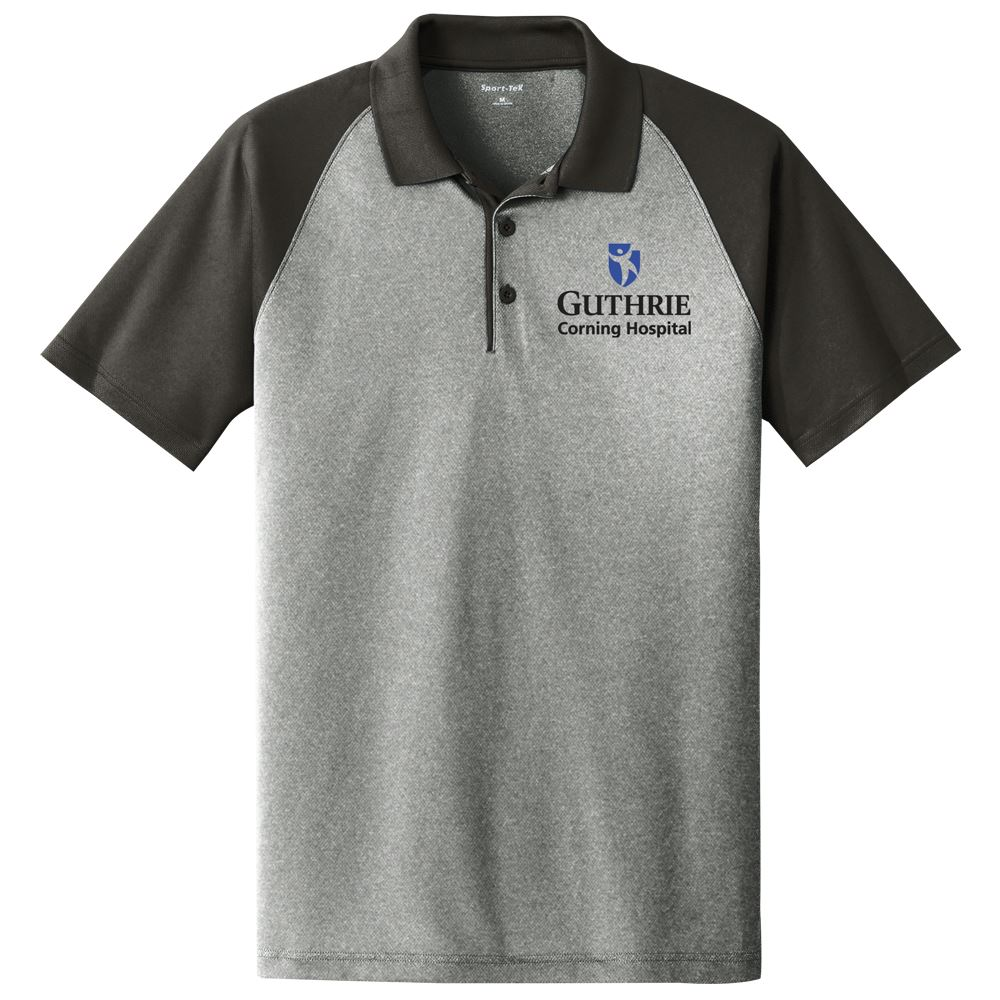 Sport-Tek® PosiCharge® Men's RacerMesh® Raglan Heather Block Polo - Personalization Available