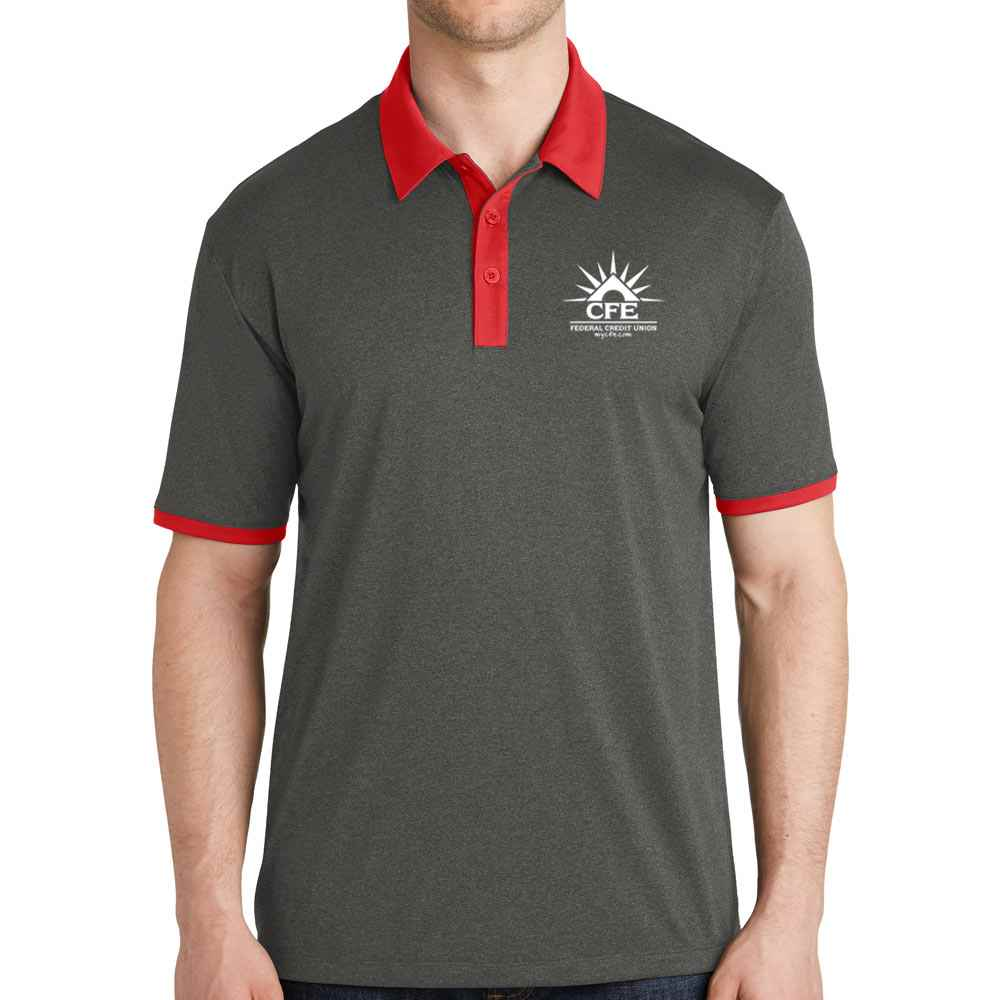 Sport-Tek® Men's Heather Contender™ Contrast Polo - Personalization Available