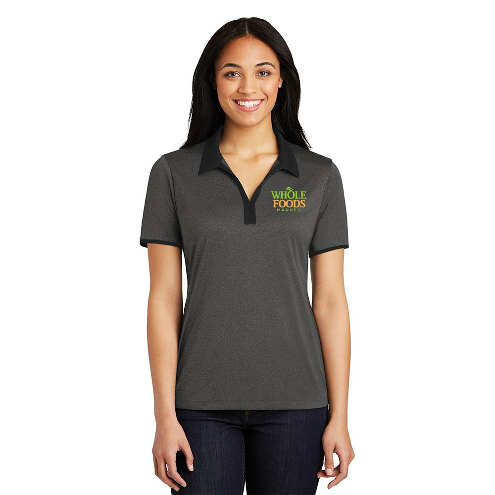 Sport-Tek® Women's Heather Contender™ Contrast Polo - Personalization Available