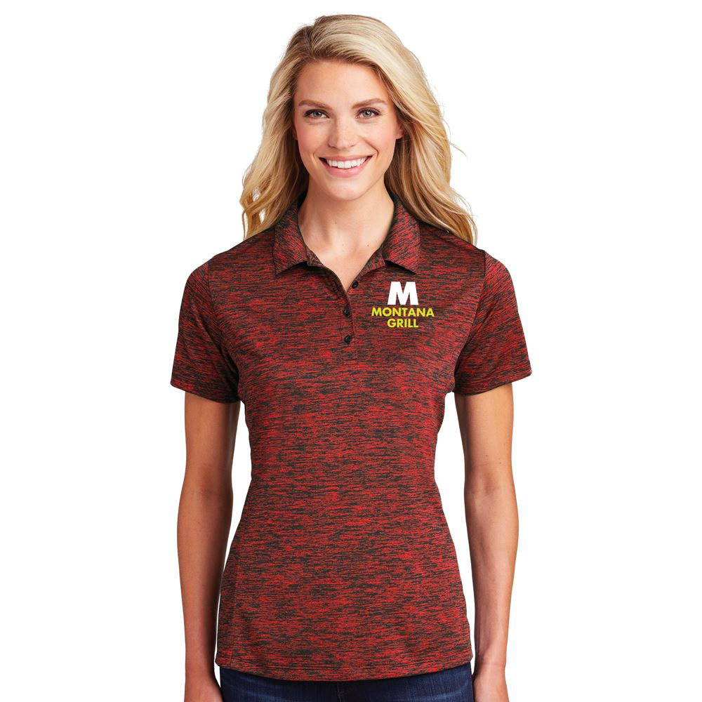 Sport-Tek® PosiCharge® Women's Electric Heather Polo - Personalization Available