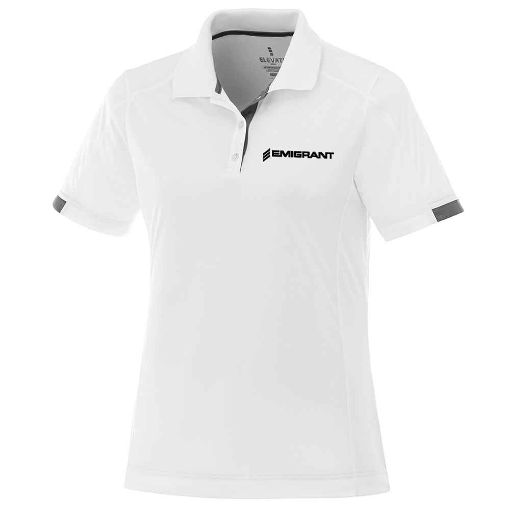 Elevate® Women's Kiso Short-Sleeve Polo Shirt - Embroidery Personalization Available