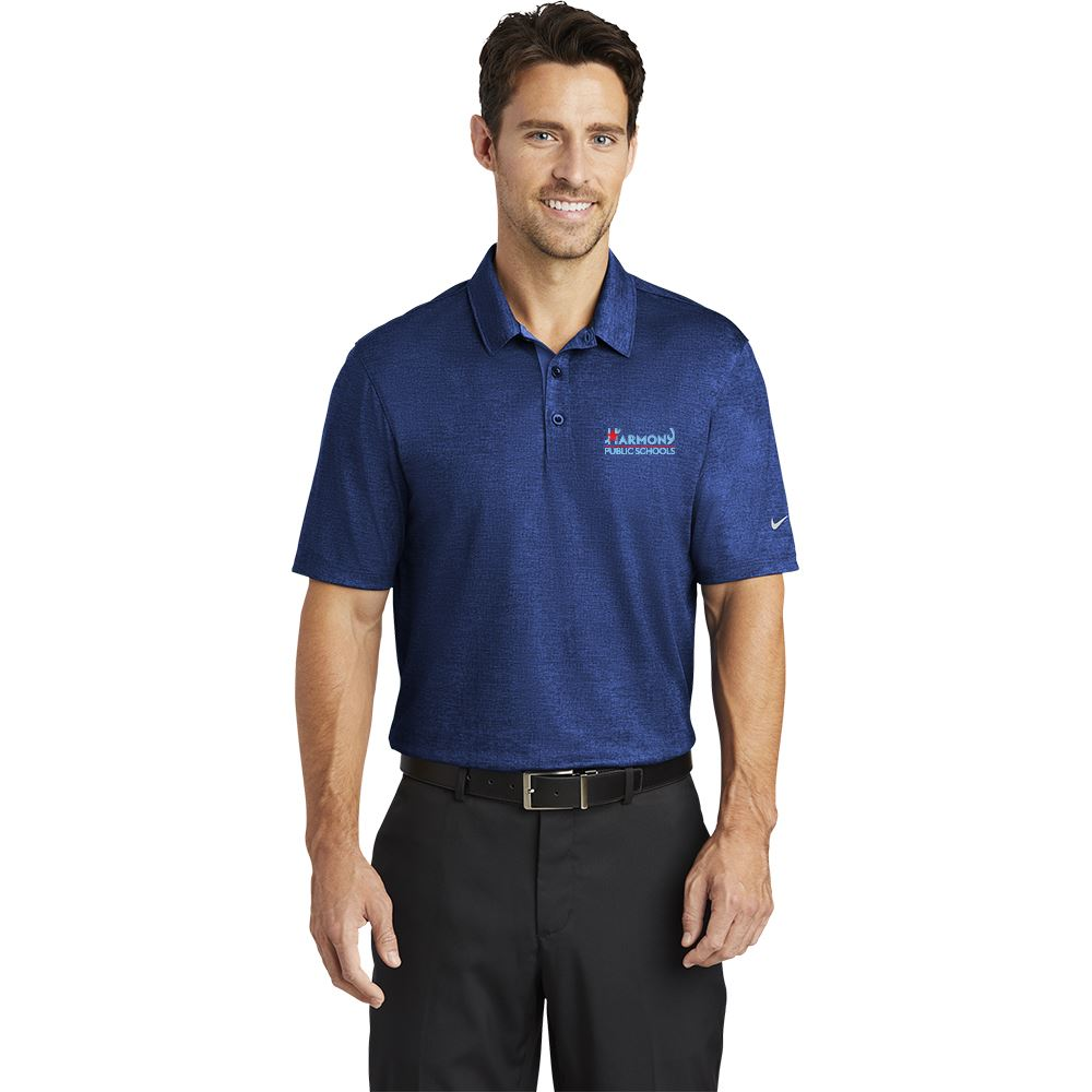 Nike® Men's Dri-FIT Crosshatch Polo Shirt - Personalization Available