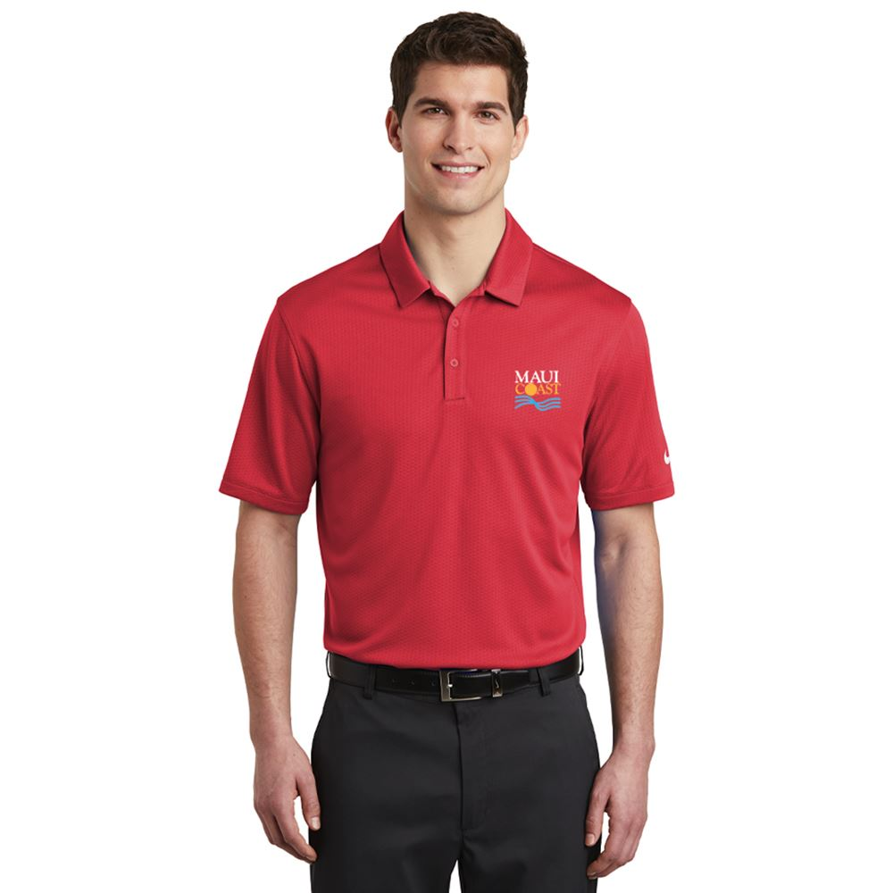 Nike® Men's Dri-FIT Hex Textured Polo Shirt - Personalization Available