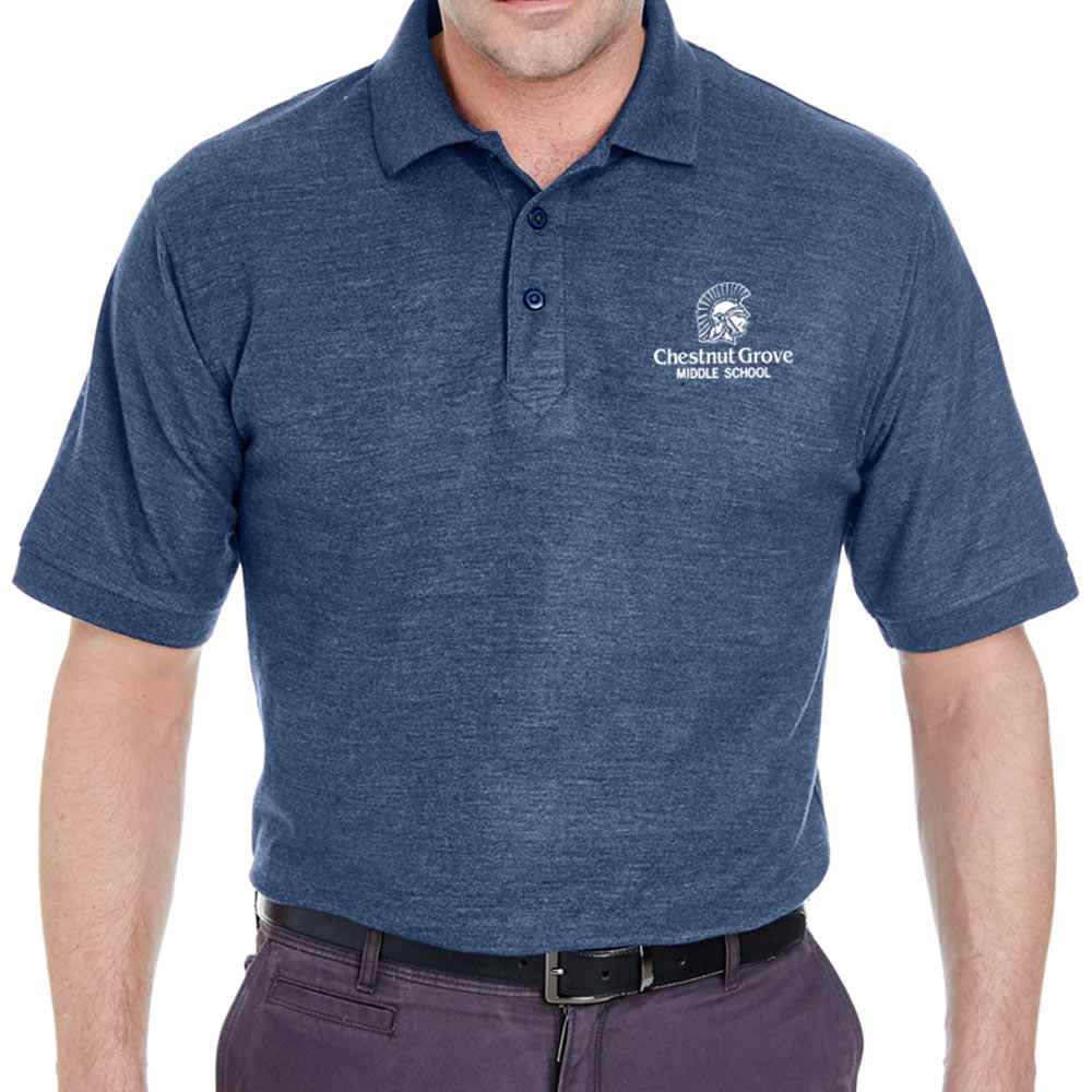 UltraClub® Men's Whisper Pique Polo Shirt - Personalization Available