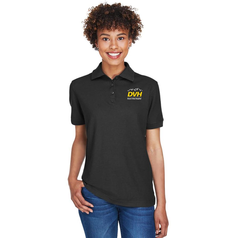 UltraClub® Women's Whisper Pique Polo Shirt - Personalization Available