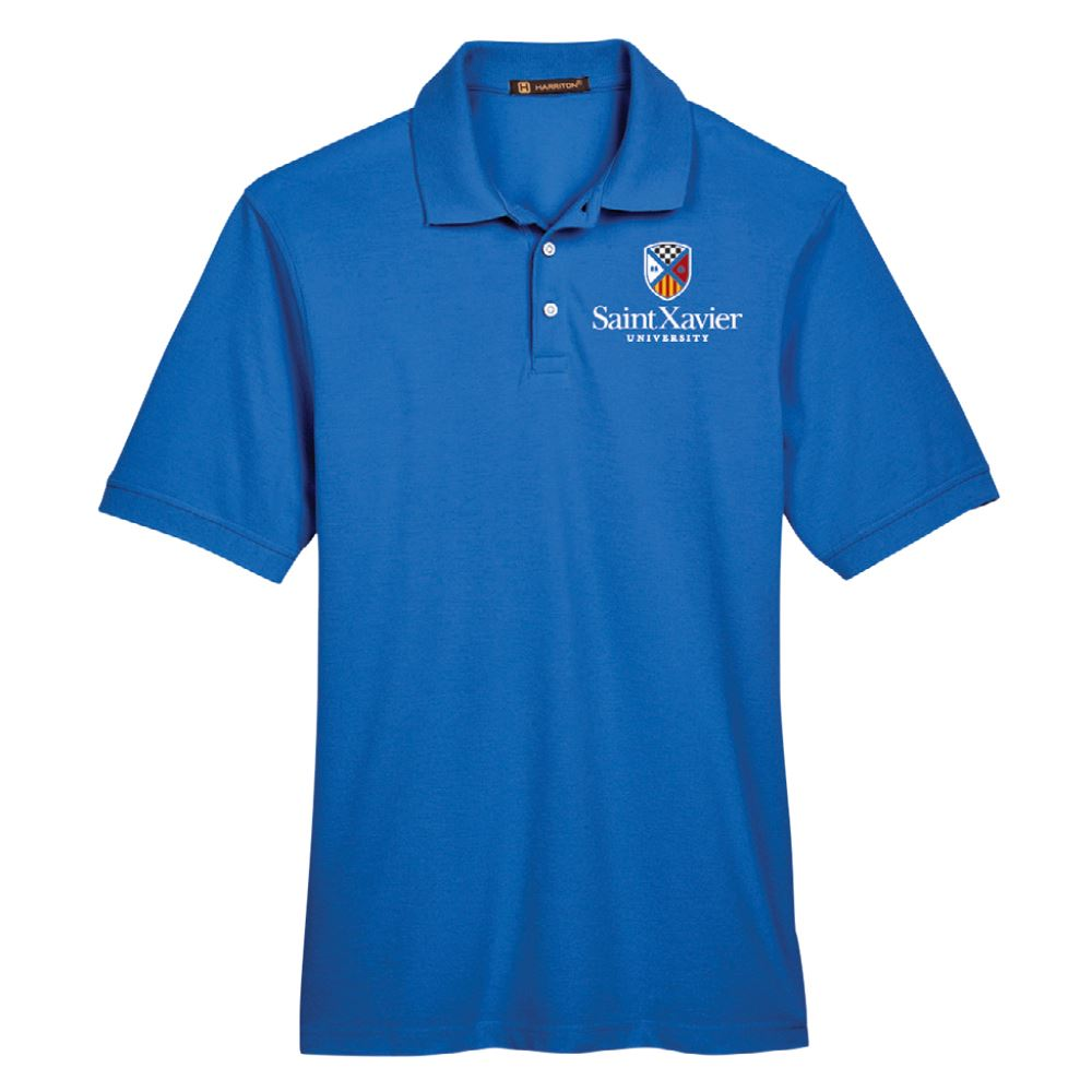 Harriton® Men's Easy Blend Polo Shirt - Embroidery Personalization Available