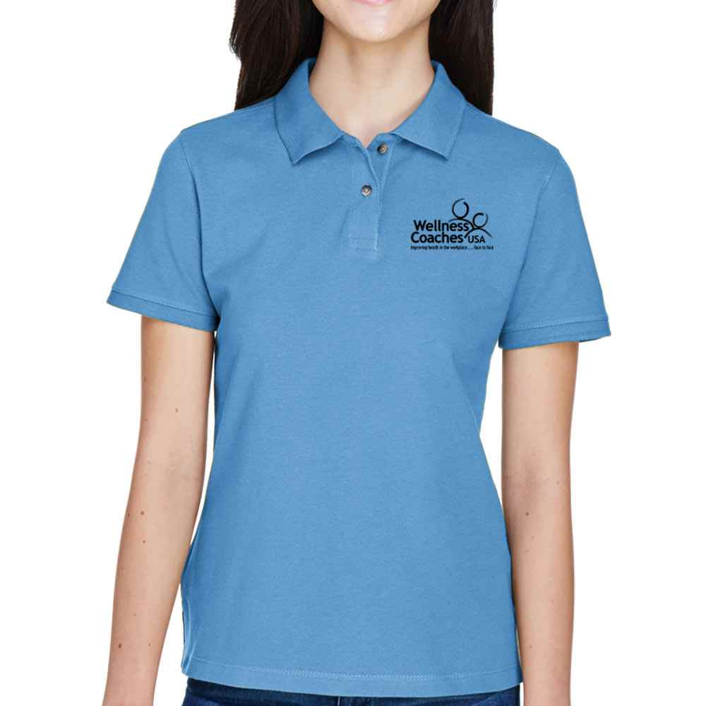 Harriton® Women's Ringspun Cotton Pique Polo - Personalization Available