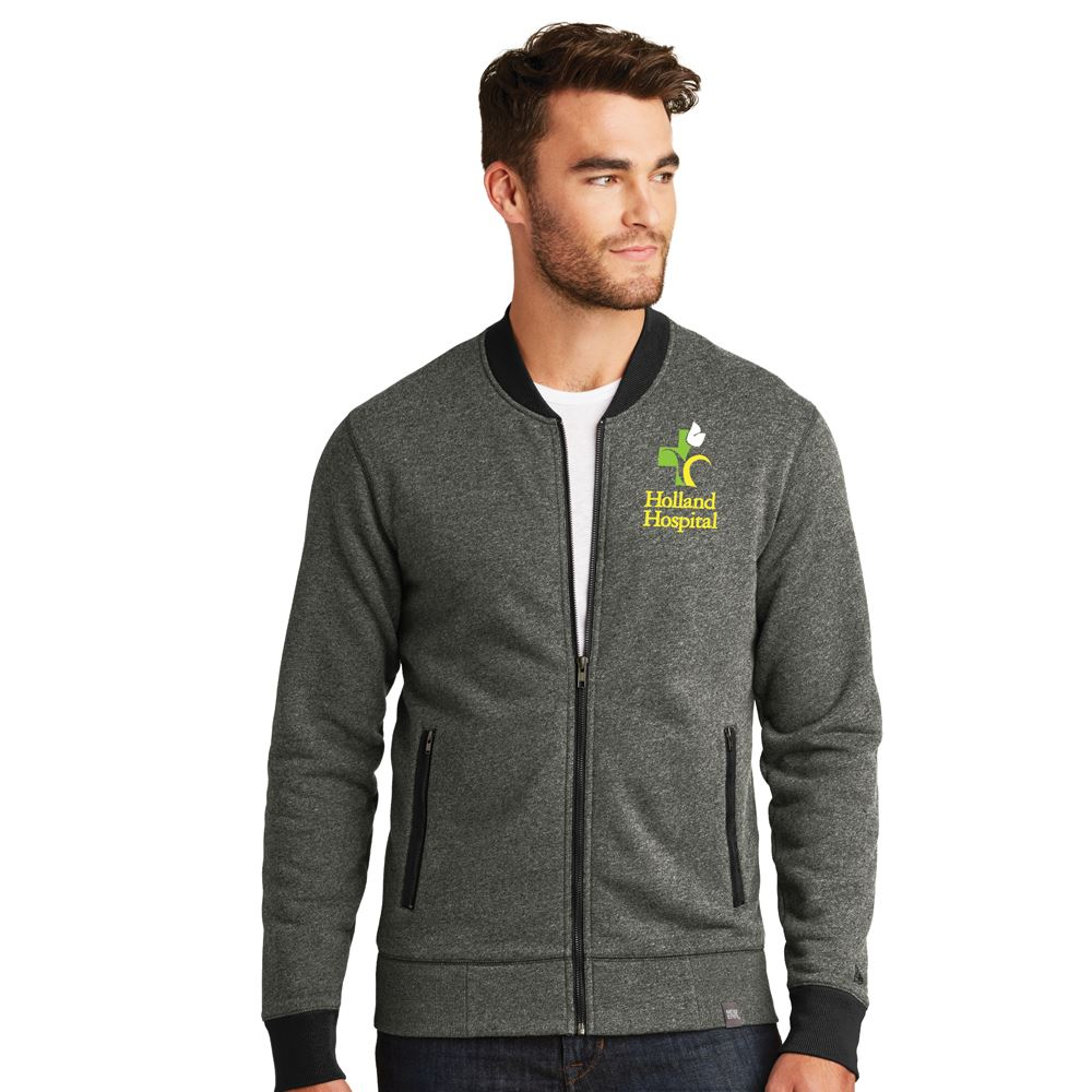 New Era French Terry Heathered Men's Full-Zip Jacket-Personalization Available