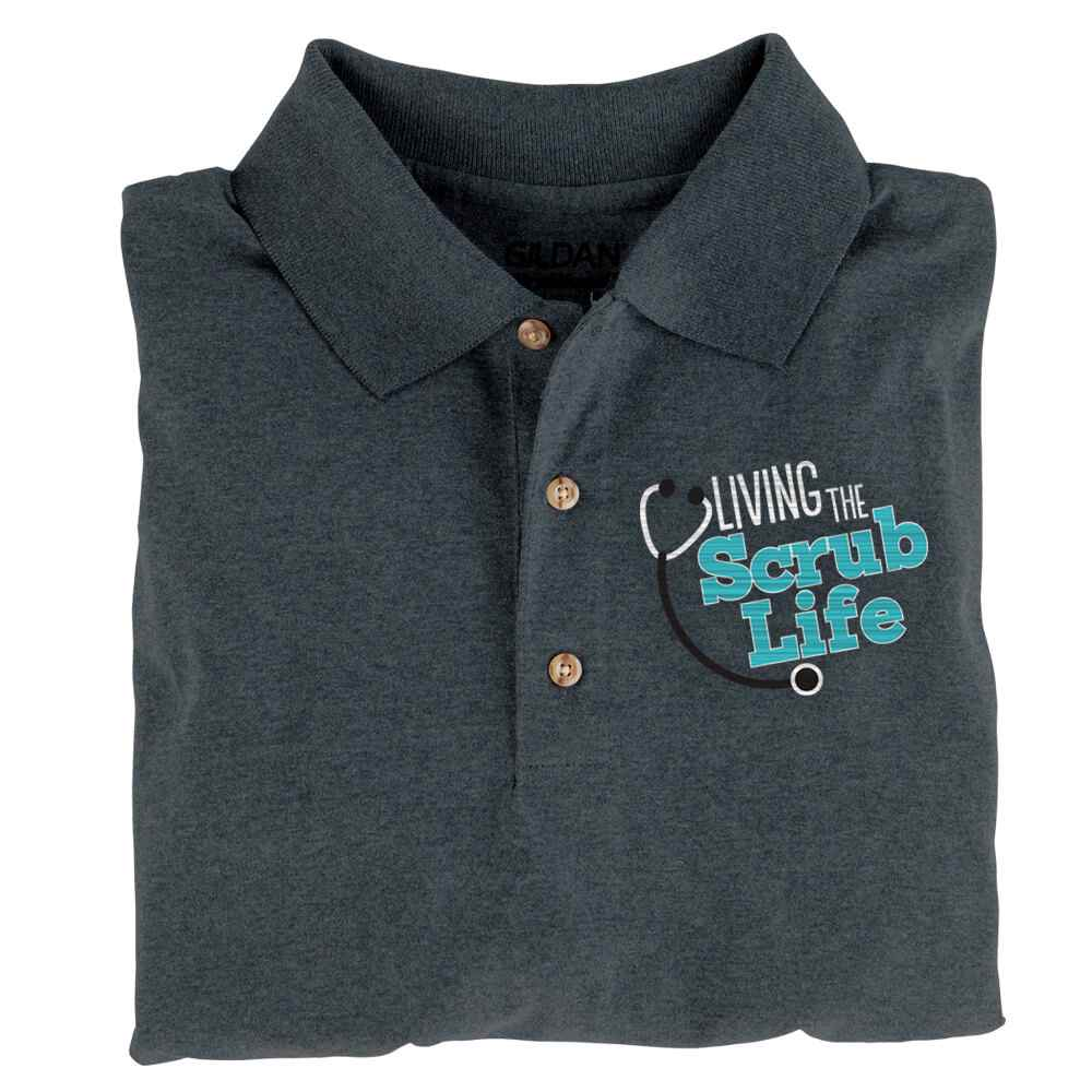 Living The Scrub Life Gildan® Dryblend Jersey Polo Shirt - Personalization Optional