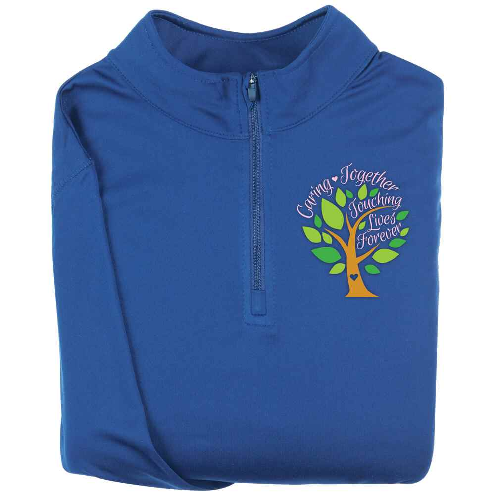 Caring Together, Touching Lives Forever Augusta® Attain Quarter Zip - Personalization Available