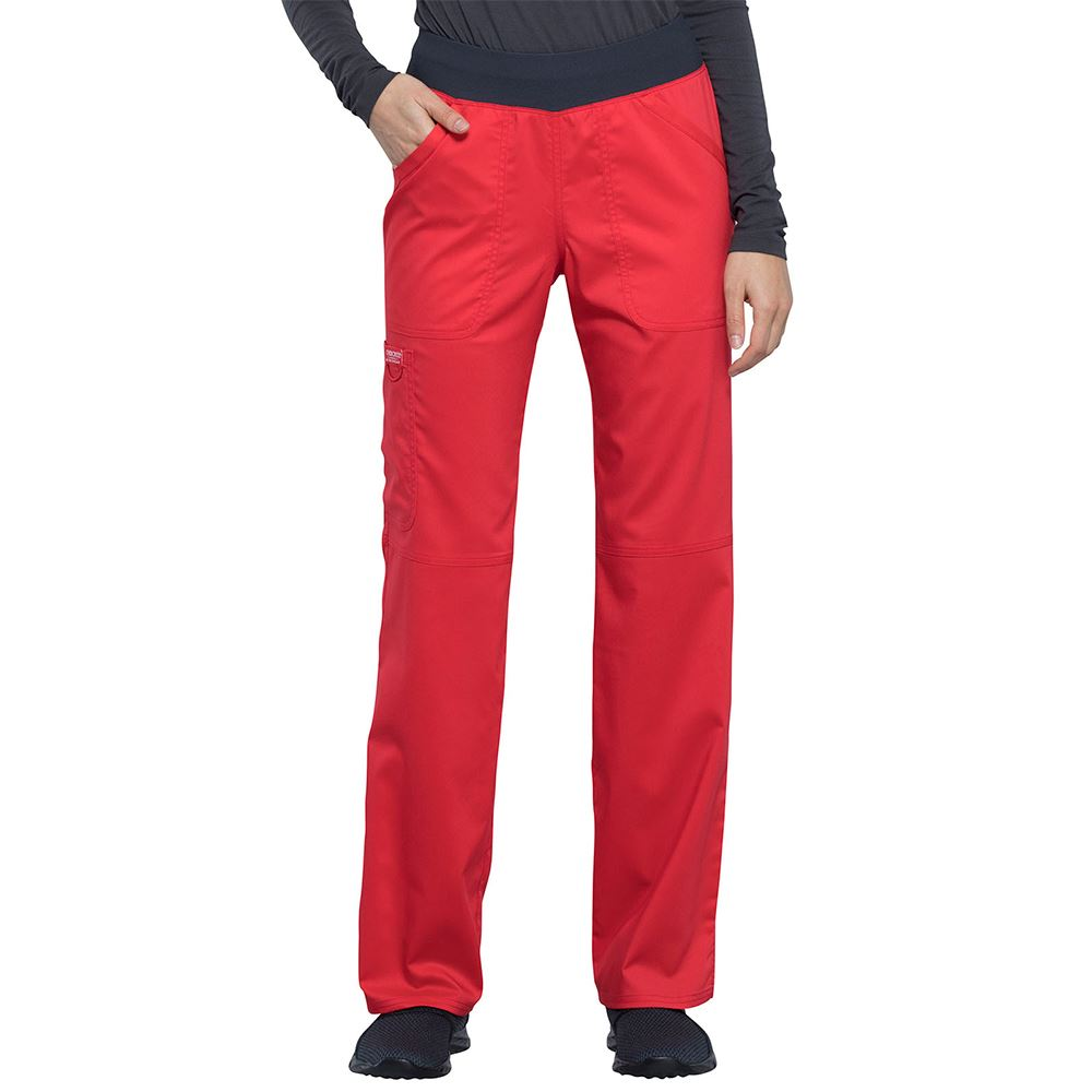 Cherokee® Women's Mid Rise Straight Leg Pull-On Scrub Pant