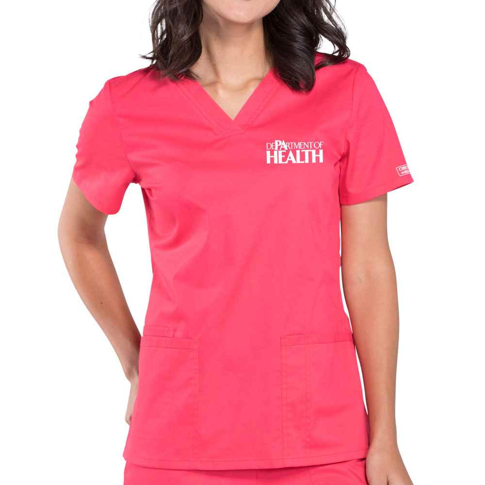 Cherokee® Workwear Women's Core Stretch V-Neck Scrub Top - Embroidered Personalization Available