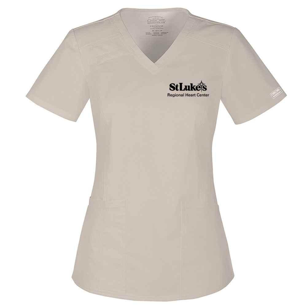 Cherokee® Core Stretch Women's V-Neck Scrub Top - Personalization Available