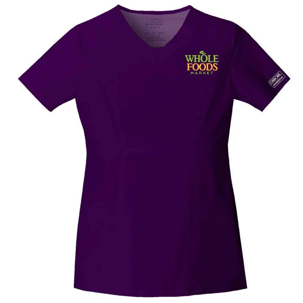 Cherokee® Core Stretch Women's V-Neck Scrub Top - Personalization Available