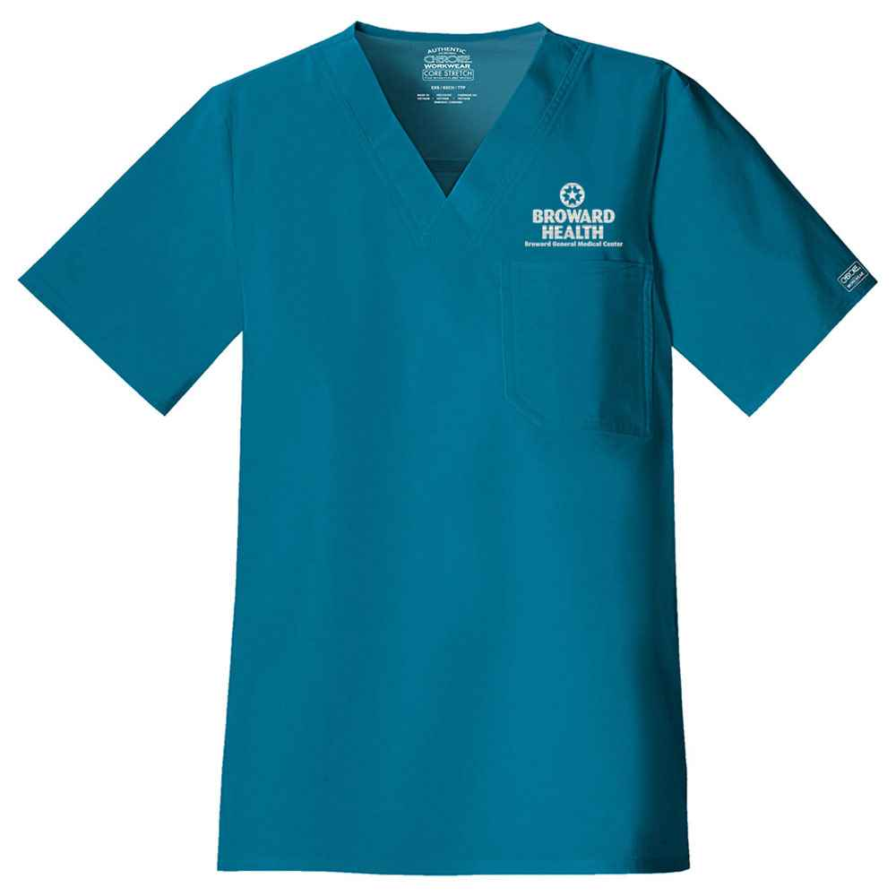 Cherokee® Core Stretch Men's V-Neck Scrub Top - Personalization Available