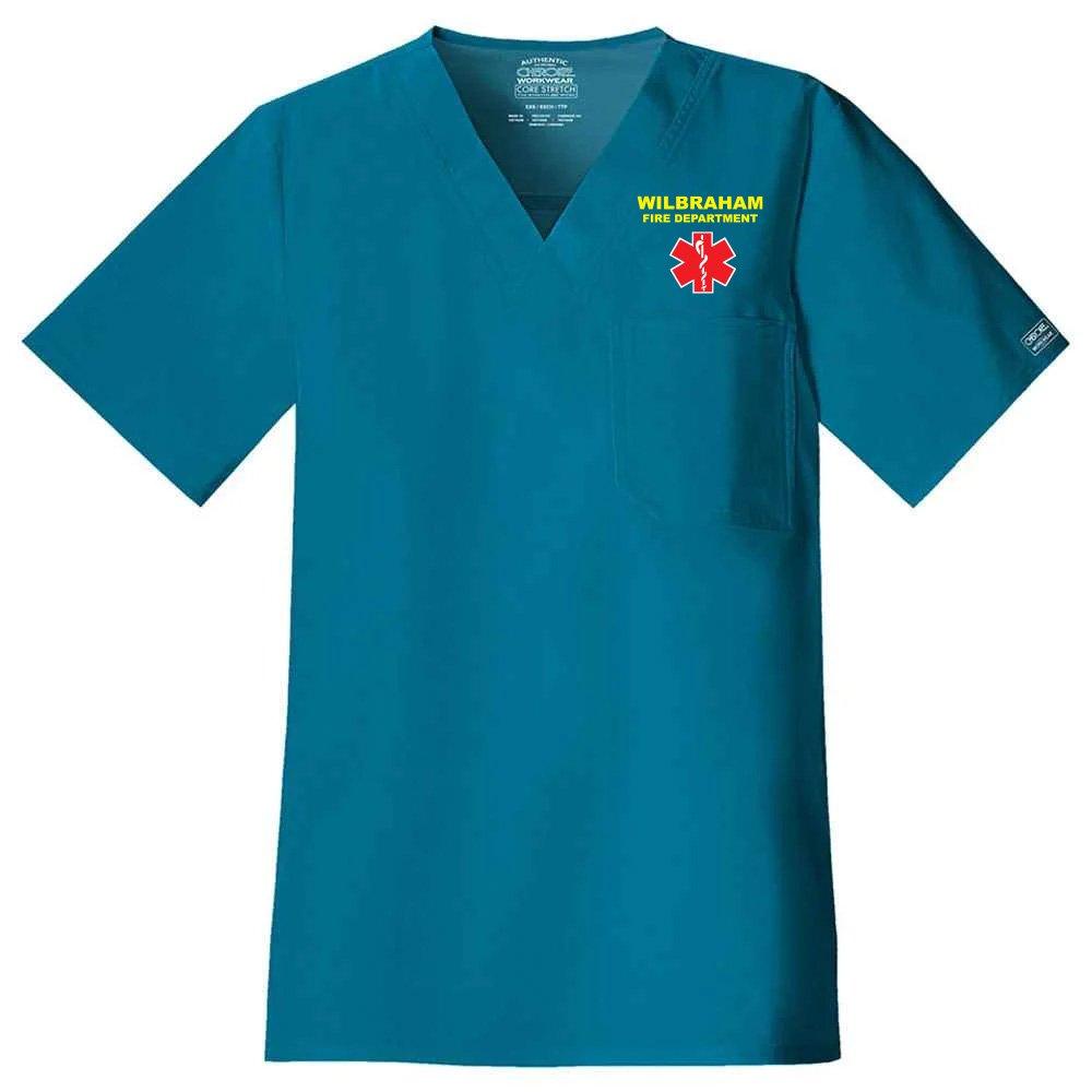 Cherokee® Core Stretch Men's V-Neck Scrub Top - Personalization Available