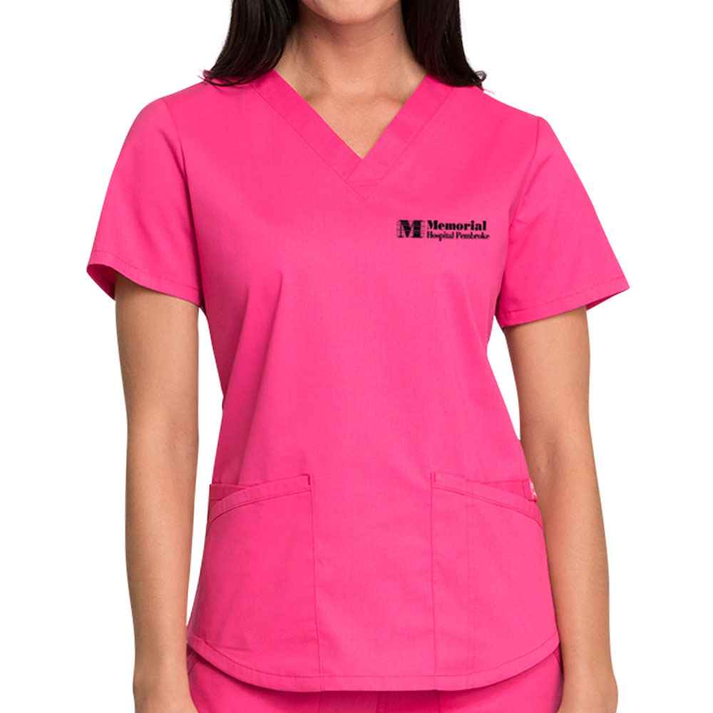 Cherokee® Workwear Professionals Women's V-Neck Scrub Top - Embroidered Personalization Available