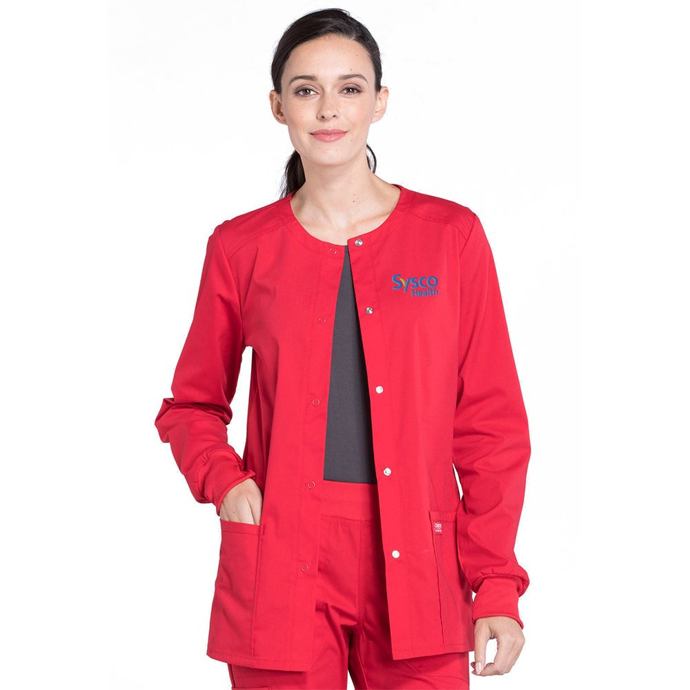 Cherokee® Workwear Professionals Women's Snap Front Warm-Up Jacket - Embroidery Personalization Available