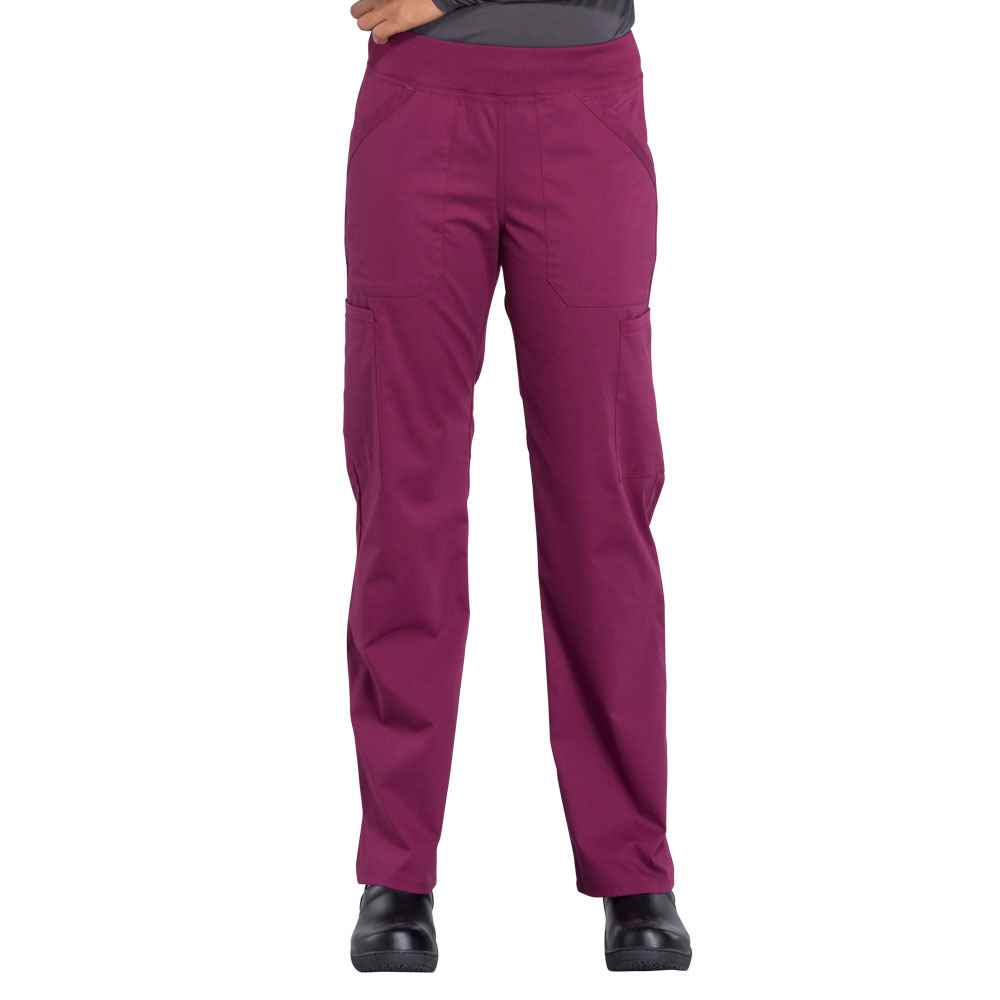 Cherokee® Women's 6 Pocket Mid Rise Straight Leg Pull-On Cargo Scrub Pant