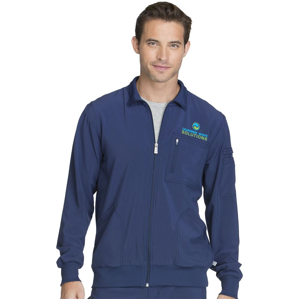 Cherokee® Men's Infinity Zip Front Warm-Up Jacket with Antimicrobial Additive - Embroidery Personalization Available