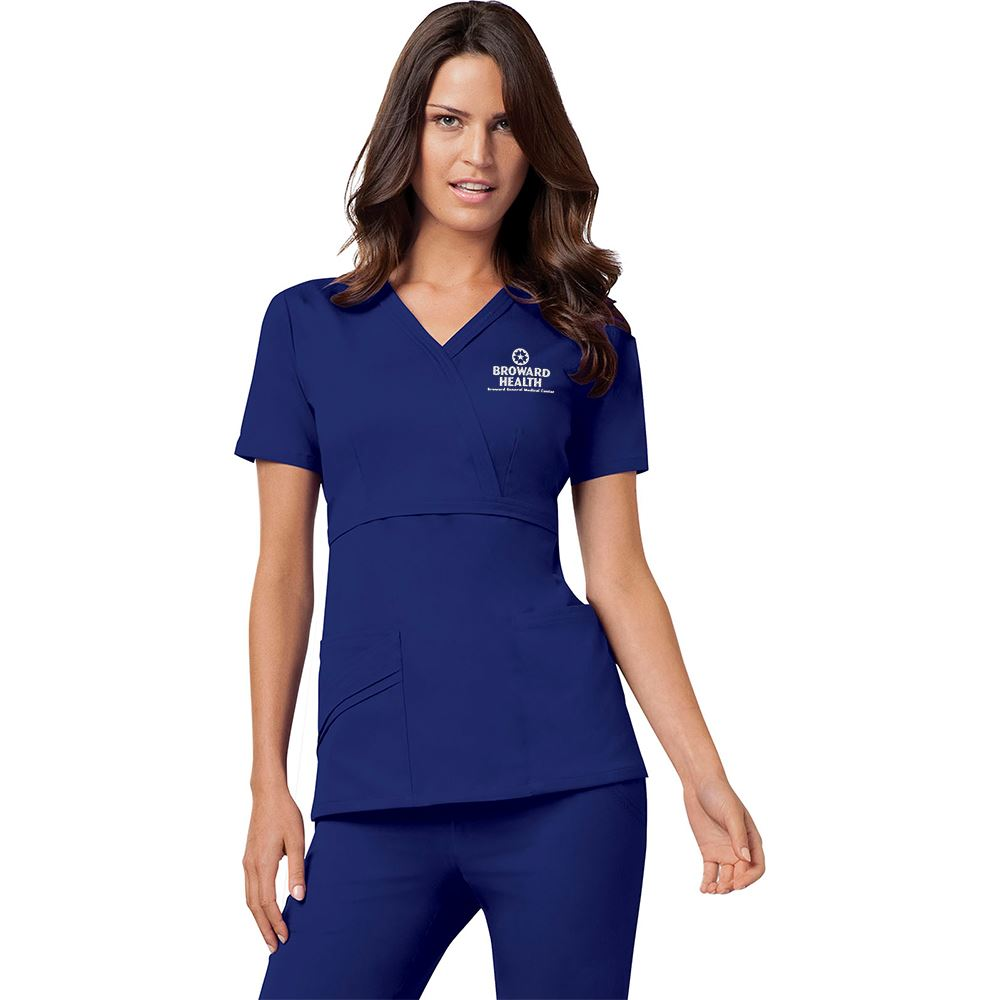 Cherokee® Luxe Women's Mock Wrap Top - Personalization Available