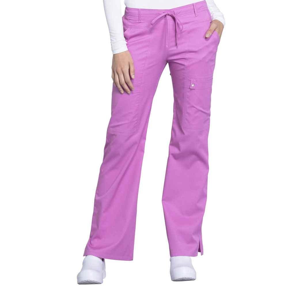 Cherokee® Women's Low Rise Flare Leg Drawstring Cargo Scrub Pant