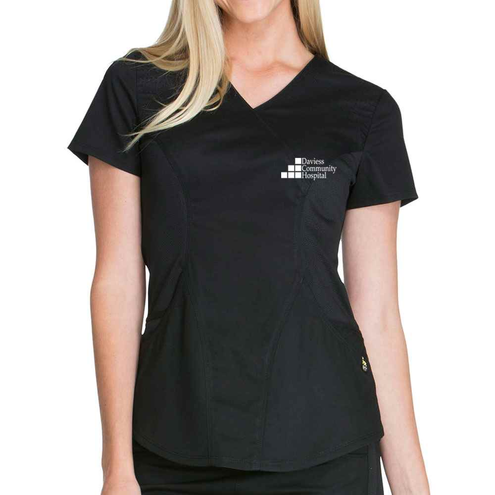 Women's Cherokee Luxe Sport Mock Wrap Top - Embroidery Personalization Available