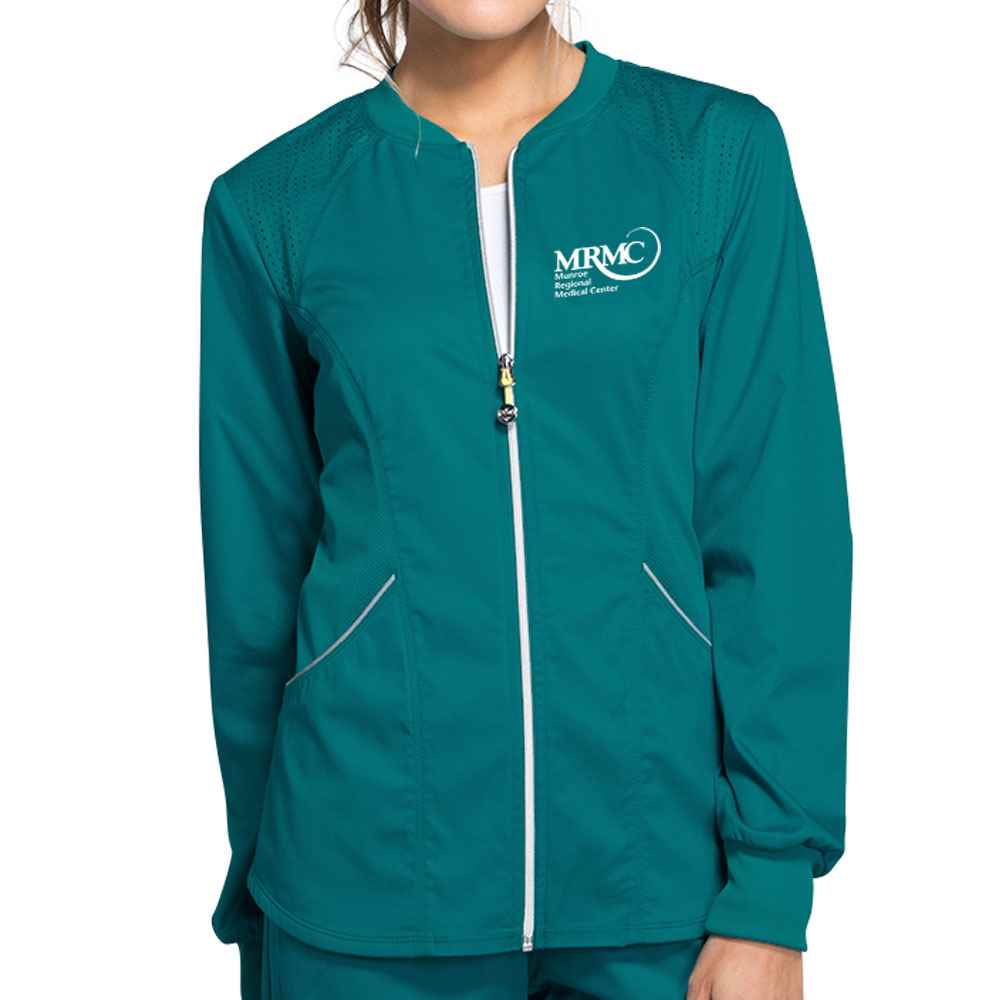 Women's Cherokee Luxe Sport Zip Front Warm-Up Jacket
