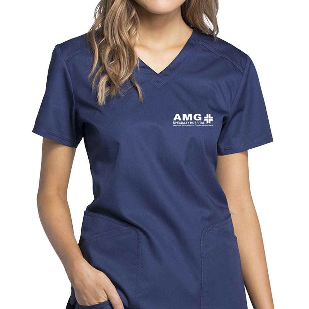 Cherokee® Women's Luxe Sport V-Neck Scrub Top - Personalization Available