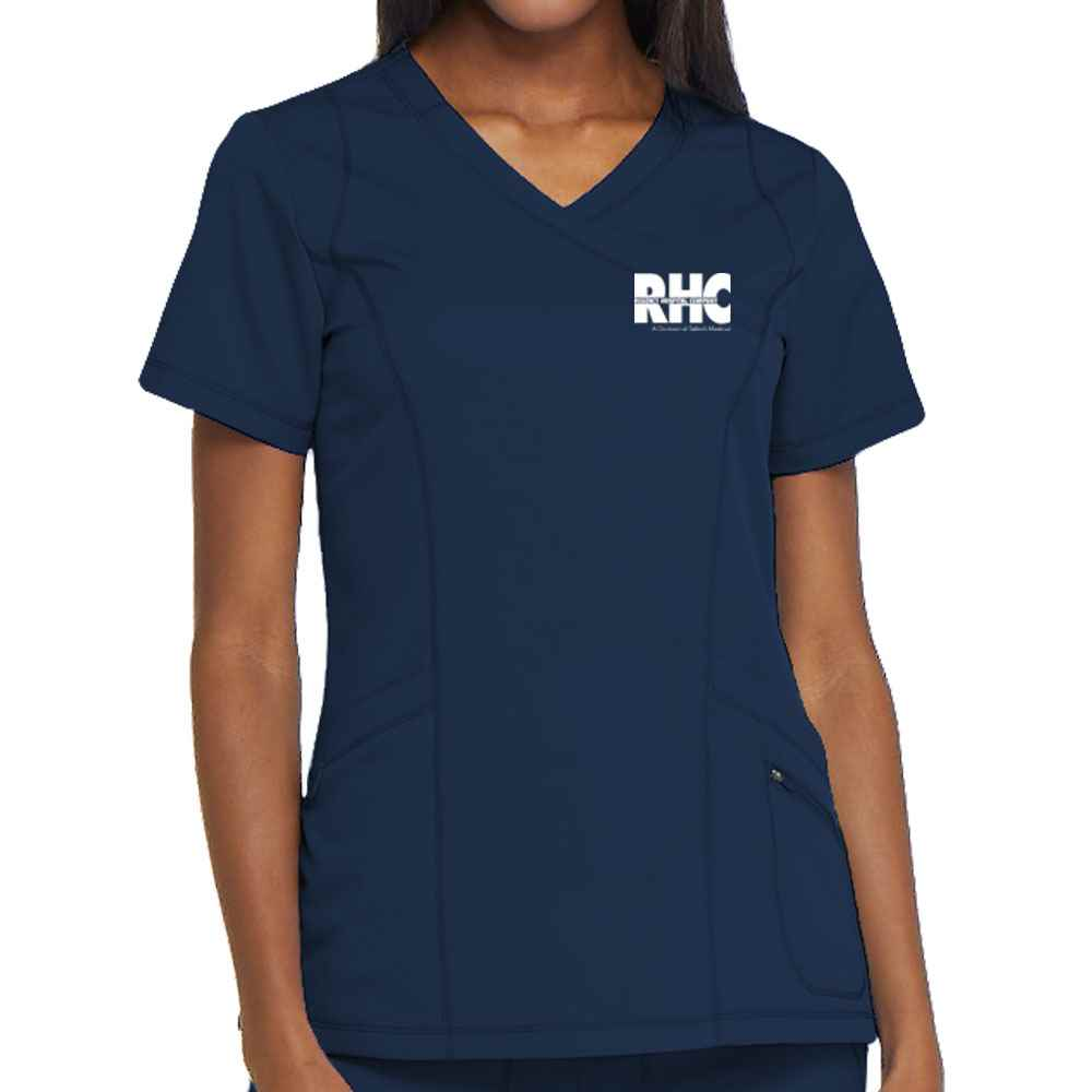 Dickies® Women;s Dynamix Mock Wrap Scrub Top - Personalization Available