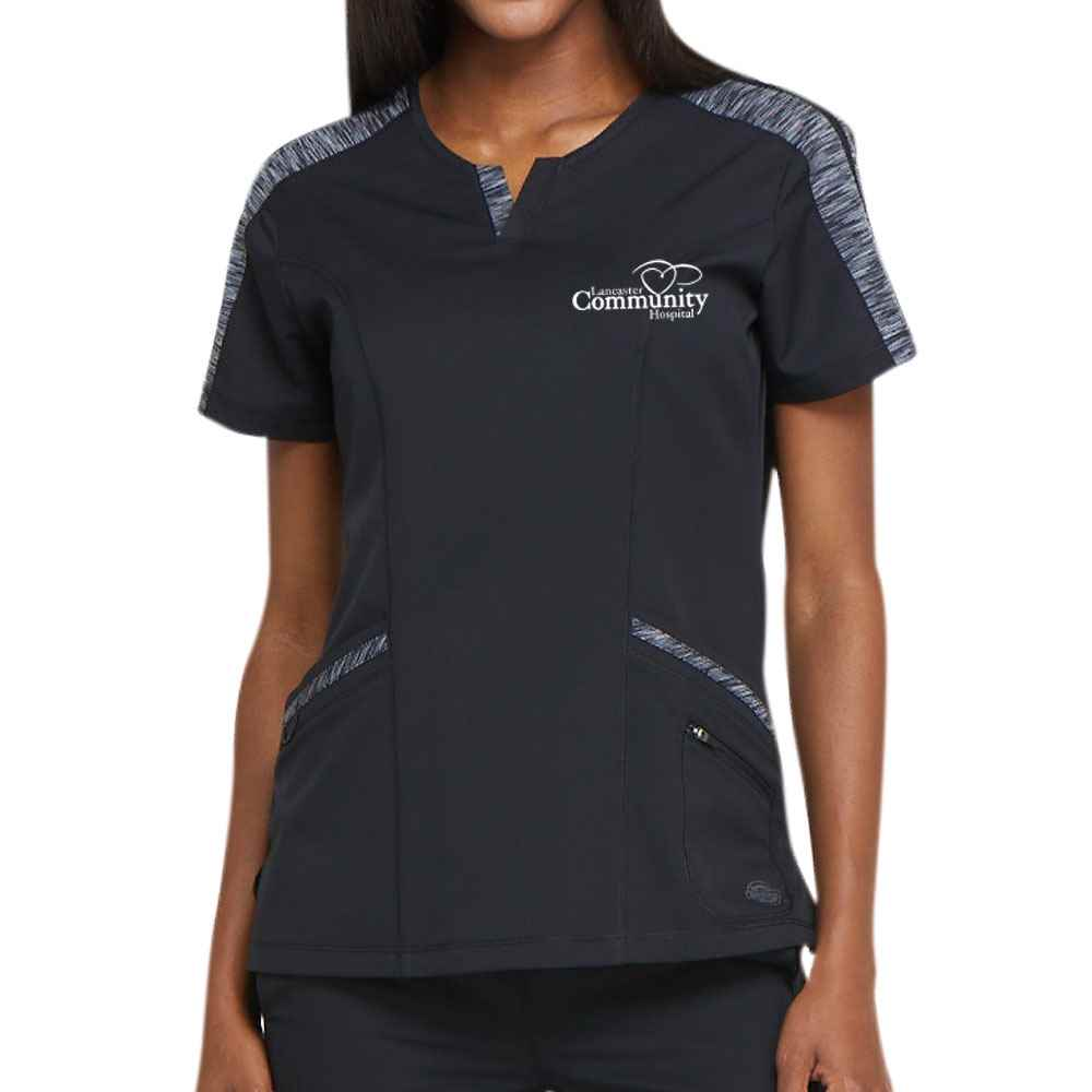 Dickies® Women's Dynamix Shaped V-Neck Scrub Top - Personalization Available