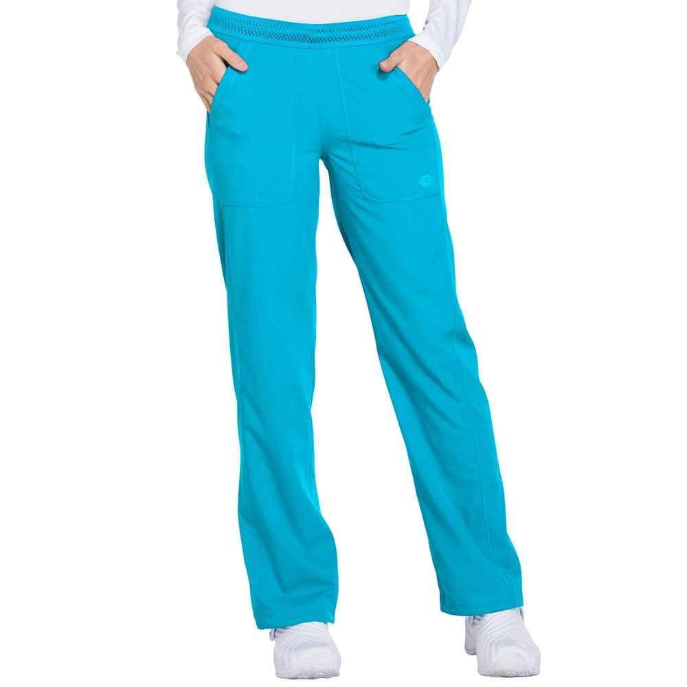 Dickies® Women's Mid Rise Straight Leg Pull-On Scrub Pant