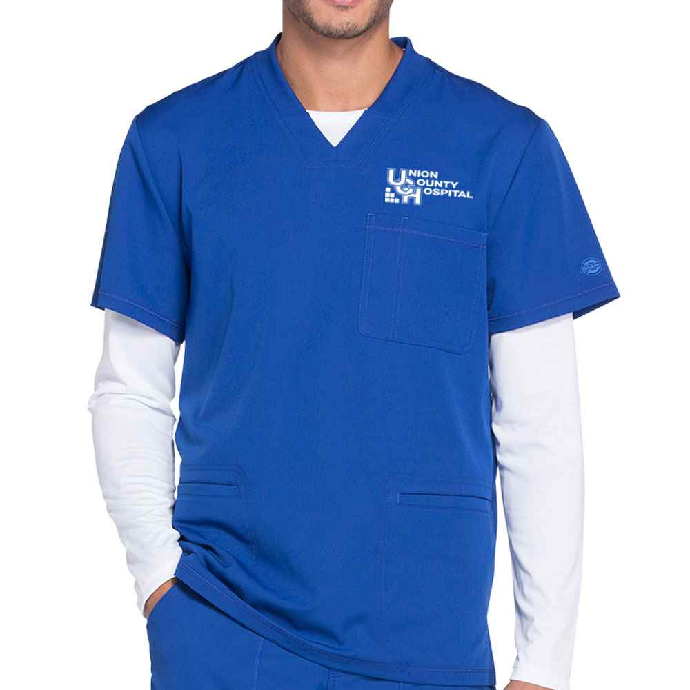 Dickies® Men's Dynamix V-Neck Scrub Top - Embroidered Personalization Available